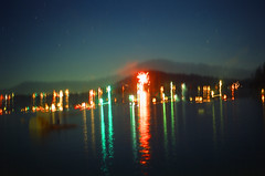 7.3.17 LLWM Fireworks Pentax E6 E 27 (Jcicely) Tags: 2017 e6 fireworks fourthofjuly july loonlake loonlakewithmarvin pentax35mm water