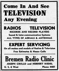 1950 - Cirillo and Riedel Bremen Radio Clinic - Enquirer - 26 Jan 1950