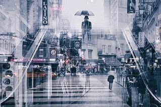 MULTI EXPOSURE PARIS NYC street photography