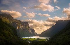 Gya - Dalane - Norway (BjørnP) Tags: landscape mountains valley farms beautiful light clouds water lake trees forest sky sony bjørkeland peder bjørn norway norge