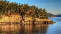 Lopez Island Golden Hour Sunrise (ScottElliottSmithson) Tags: washingtonstate lopezisland sanjuanislands sanjuancounty scenic landscape nature water waterscape madrona forest woods washingtonstatenature washington washingtonnature canon eos eos7d 7d dtwpuck photomatix goldenhour sunrise salishsea pacificnorthwest northwestwashington washingtonstateferries ferry ferries