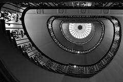 Erebus (Douguerreotype) Tags: monochrome spiral buildings window city bw uk gb england british blackandwhite mono stairs urban architecture london britain helix light steps