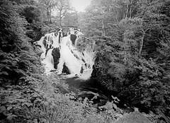 Swallow Falls (graemes83) Tags: pentax vivitar film rollei 35mm 135 black white water fall waterfall river rocks wet