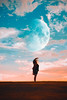 i need more space (lauren zaknoun) Tags: conceptual conceptualphotography dark darkphotography fairytale fantasy girl moon night space starrynight stars surreal surrealphotography blue orange art sky nightsky sunset dusk fullmoon fineartphotography