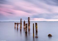 Old jetty at sunset (Donard850) Tags: countydown cunningburn northernireland strangfordlough longexposure oldpier pier sea stumps sunset water