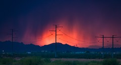 Sunset and storm in one setting