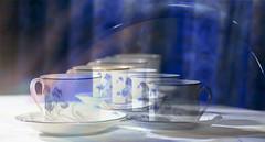 Sliding tea time ;o) (Elisafox22 slowly catching up ;o)) Tags: elisafox22 hss sliderssunday texture sliding colours blue white tea teacups saucers china table porcelain postprocessing photomanipulation textures ipad photoshop textured photomanipulated patterns elisaliddell©2017