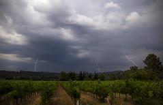 Lightnings (Lolo_) Tags: lightning storm éclairs vines vignes provence france orage drôme provençale rousset pantaléon nd8 foudre impacts baronnies provençales strikes champ field