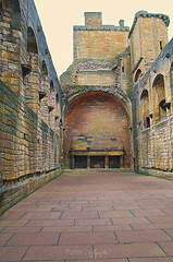 Great Hall (Rollingstone1) Tags: greathall banquet linlithgowpalace scotland fireplace walls passageway floor floorspace art artwork colour vivid stone history historic residence royal scottish monarch medieval