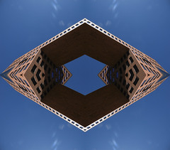 Connected (Ed Sax) Tags: edsax art photokunst photoart hamburg freieundhansestadthamburg surreal abstract muster desing irreal blau rot schwarz hexagon