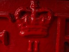 Elizabeth II Regina - Queen  - (brian teh snail) Tags: queen macromonday red post box