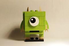 Mike Wazowski Brickheadz 01 (Pablo Piccasos) Tags: lego mike wazowski moc brickheadz disney pixar monsters inc