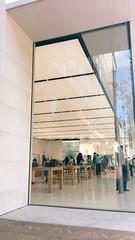 Apple Store (maxdog441) Tags: urban suburb store shopping atl atlanta georgia white technology tech lights glass architecture modern retail avalon applestore apple