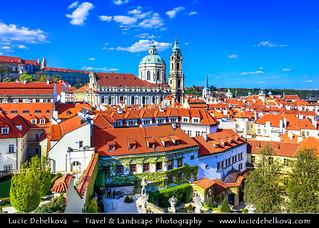 Czech Republic - Prague - Praha - Old Town - UNESCO World Heritage Site - Church of Saint Nicholas - Kostel svatého Mikuláše during sunny day