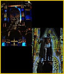 3 - Tours, Les illusions de la cathédrale (melina1965) Tags: juillet july 2007 centrevaldeloire indreetloire tours nikon d80 mosaïque mosaïques mosaic mosaics collages collage église églises church churches lumière light nuit night