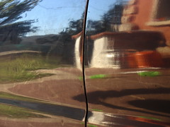 My Friend's Car (andressolo) Tags: reflection reflections reflect reflected reflejos reflejo distortions distortion distorted car weird