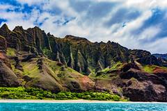 Along the Napali Coast (Macro Focus) Tags: napali coast kauai hawaii seashore sea beach coastline