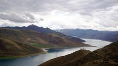 西藏羊卓雍措湖  Yamdrok Tso Lake, Tibet (Surface elevation 4,441m) (C. Alice) Tags: 川藏318之旅 中國 china 西藏 tibet 2015 lake cloud water clouds sony nex5r sonyepz1650mmf3556oss sonynex5r summer travel asia autofocus favorites100 aatvl01 aatvl02