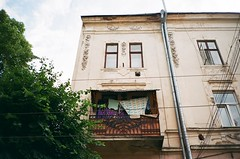 Чернівці, Україна (slo:motion) Tags: чернівці україна ukraine contaxt2 fuji provia400x windows window wires wire cables