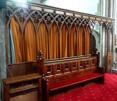 [52426] Horsforth : Screen (Budby) Tags: horsforth church leeds westyorkshire screen woodwork victorian
