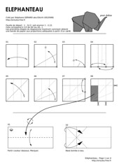 Baby elephant (2008) - diagram 1/4 (Orizuka) Tags: diagram origami elephant