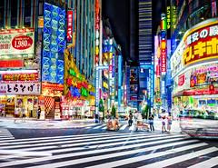 Kabuchiko, 1AM (Stuck in Customs) Tags: japan stuckincustomscom tokyo treyratcliff hdr hdrtutorial hdrphotography x1d hasselblad night lights street rcmemories kabukicho shinjuku