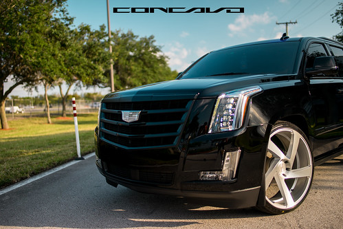 """Cadillac Escalade on 5D Brushed Silver • <a style=""""font-size:0.8em;"""" href=""""http://www.flickr.com/photos/77888731@N08/35178625803/"""" target=""""_blank"""">View on Flickr</a>"""