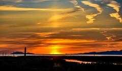 High on atmosphere (Christie : Colour & Light Collection) Tags: garrypointpark steveston richmond bc canada sunset sundown glow riverscene river fraserriver horizon