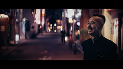 Gion, Kyoto, Japan (emrecift) Tags: candid portrait night magenta tint street photography kyoto japan cinematic 2391 anamorphic cinemorph filter oval bokeh sony a7 alpha legacy lens glass canon new fd 50mm f14 emrecift