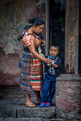 a mother and son (Pejasar) Tags: mother son child boy guatemala antigua plaza main park