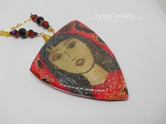 Polymer Clay Pendant Asian Dreams by LynzCraftz 2 (LynzCraftz) Tags: glitter polymerclay pendant jewelry necklace oneofakind handmade art resin