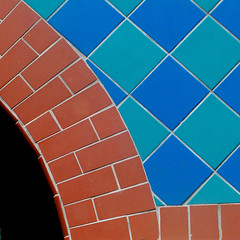 check it out (msdonnalee) Tags: architecturaldetail tile brick arch