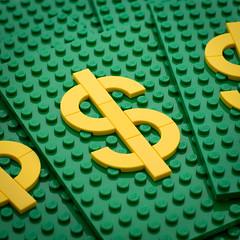 Text Experiment - $$$ (powerpig) Tags: lego money dollars