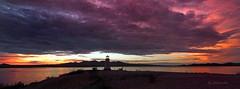 Lake Havasu Lighthouse & Sky (VenturaMermaid) Tags: sky color colour cloud lighthouse lake reflection dramatic landscape 10mm oblong horizon arizona desertlake sunset lakehavasu