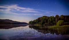 Serenity under the Stars (T P Mann Photography) Tags: stars reflections water lake river sea seascape land landscape canon t3i tamron eos dslr michigan breezeway ellsworth tress nature shadows light dark dock horizon rural quiet serene
