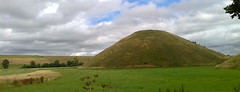 Silbury Hill from one side (southglosguytwo) Tags: 2017 cameraphonephoto clouds countryside grass july sky silburyhill wiltshire