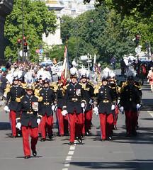 St. Cyr officers and cadets after they left the Champs d'Élysées - Bastille Day, Paris 2017 (Monceau) Tags: juilletquatorze bastilleday stcyr officers cadets marching