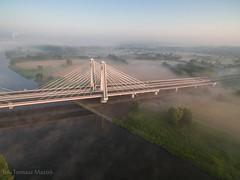 DJI_0070 (TomaszMazon) Tags: bridge krakow vistula river poland pylon mist fog sunrise