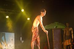 En la imagen se puede ver un momento de la actuación de la txaranga Geldiezinak titulada 'Película Vaiana'