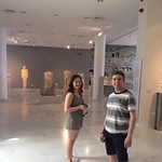 Honors students pose in a museum in Samos.