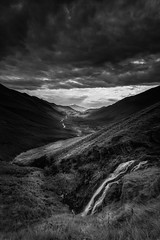indecisive (akh1981) Tags: landscape lakedistrict water wideangle walking waterfall outdoors manfrotto mountains moody travel nikon nisi cumbria clouds black white mono