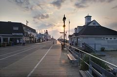 Ocean City, NJ boardwalk at sunrise (kevinmyhre) Tags: nikon sunrise boardwalk newjersey oceancity