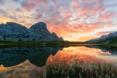 Alba al parco delle Tre Cime di Lavaredo (LucaSantin) Tags: dolomiti d750 nikon trecime rifugiolocatelli lagodeipiani 1835 alba lavaredo alpi alps dawn montagna mountain unesco