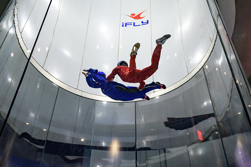 Amanda Skydiving in an Indoor Vertical Wind Tunnel