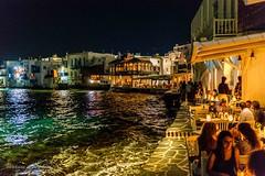 A little Venice - Mykonos (Bouhsina Photography) Tags: mykonos grece bouhsina bouhsinaphotography caprice bar rivage ile nuit couleur sigma 35mm canon 5diii venice little 2017 été mer egée restaurant