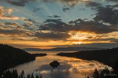 Sunrise Reflection @ Emerald Bay State Park (FollowingNature (Yao Liu)) Tags: ngc sunrise reflection emeraldbaystatepark emeraldbay island followingnature laketahoe southlaketahoe
