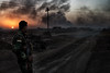 On the road to Mosul. Sunset. End of fighting. (rvjak) Tags: kurdistan irak war guerre iraq peshmerga road route