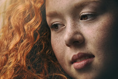 close up ... (Miss Froggi Photography) Tags: redhead freckles curly close up portrait beauty window indoor redhair