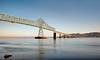 Megler Morning (Ron Rothbart) Tags: 10stopfilter astoria columbiariver meglerbridge nd oregon longexposure morning neutraldensityfilter water waterfront