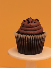 One Loney Cupcake. (catherine4077) Tags: cupcake chocolate chocolateicing sweet dessert